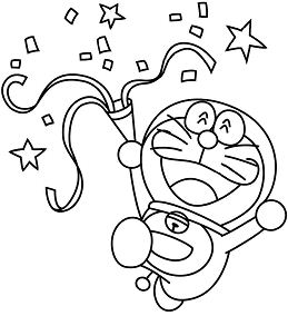 Beautiful Doraemon Coloring Page