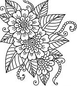 Beautiful Flower- image 2 Coloring Page