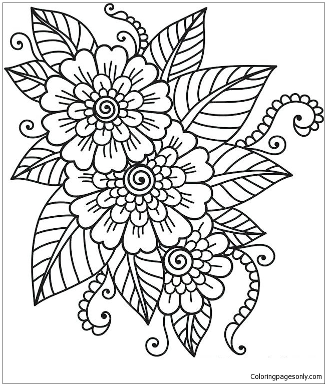 - Beautiful Flower Coloring Page - Free Coloring Pages Online