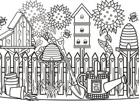 Beautiful Garden 1 Coloring Page