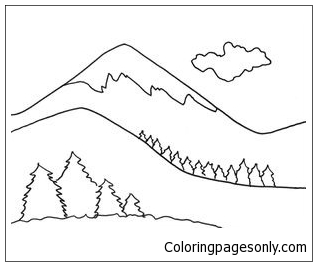 Beautiful Mountains Coloring Page Free Coloring Pages Online