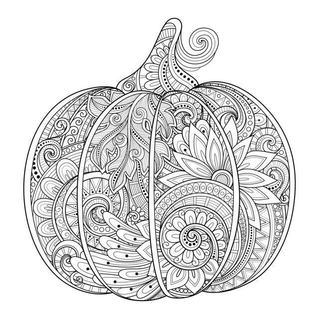Beautiful Pumpkin for Halloween Coloring Page