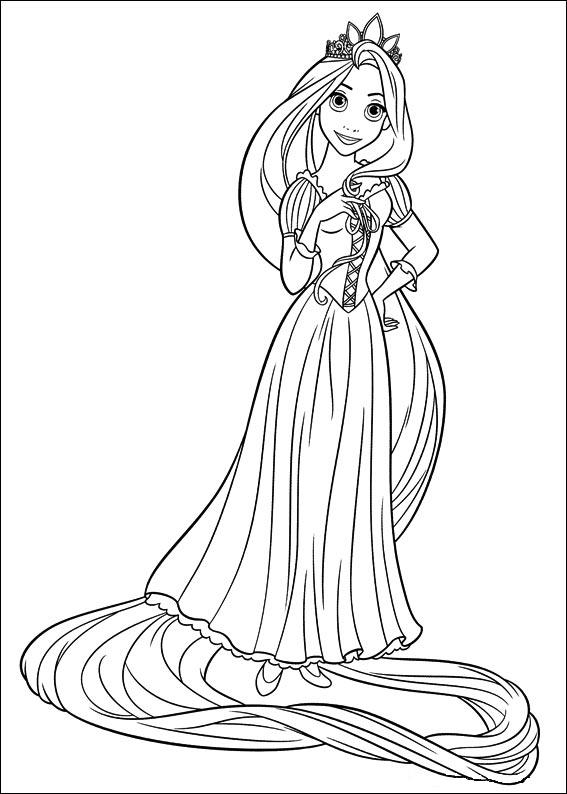Beautiful Rapunzel Coloring Page
