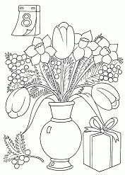 Beautiful Women s Day Coloring Page
