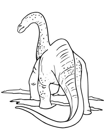 Behind the apatosaurus Coloring Page
