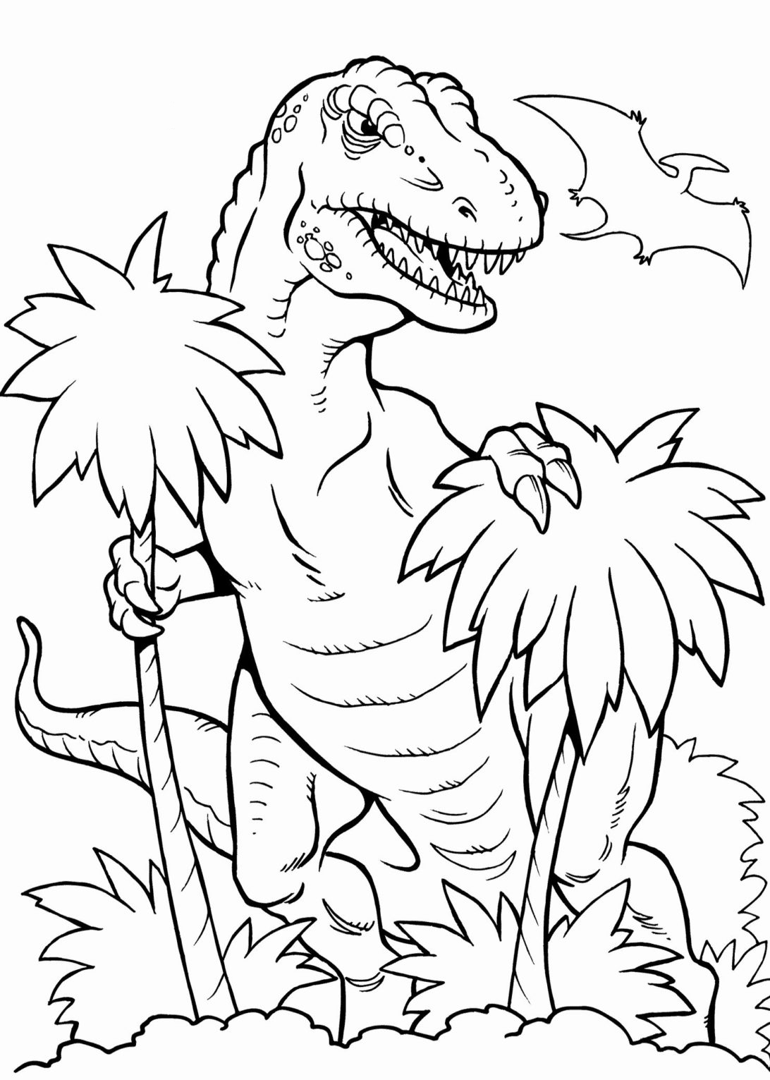 Behind the trees Coloring Page