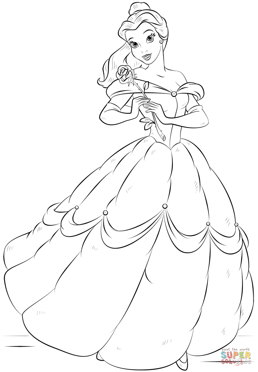 Belle From Beauty And The Beast Coloring Page