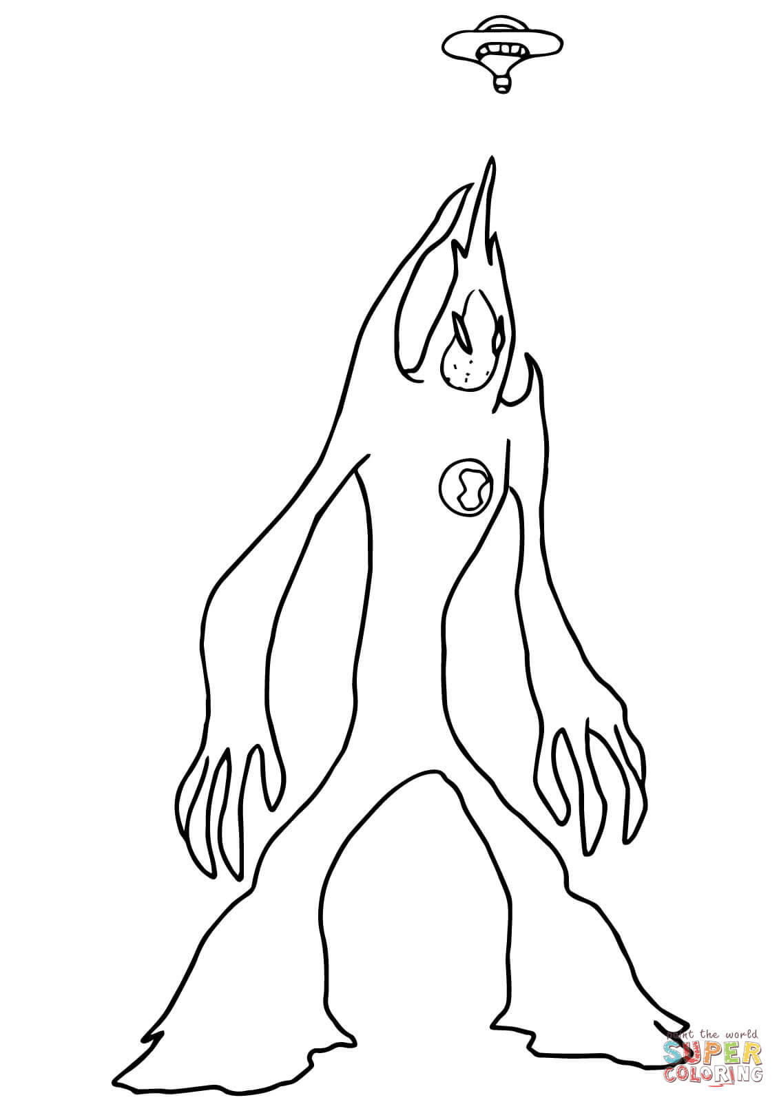 Ben 10 Alien Force Goop From Ben 10 Coloring Page