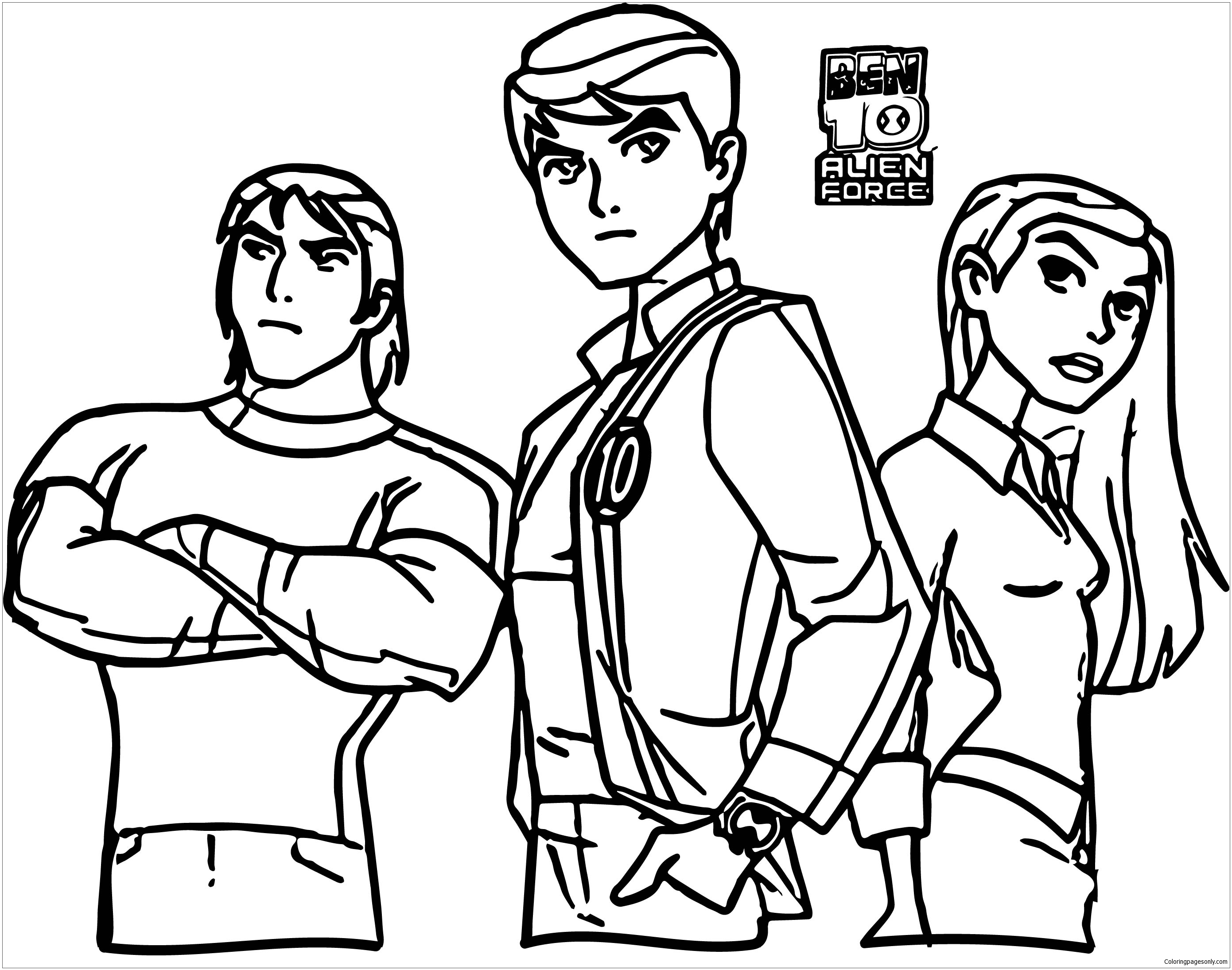 Ben 10 Alien Force Products Coloring Page - Free Coloring ...