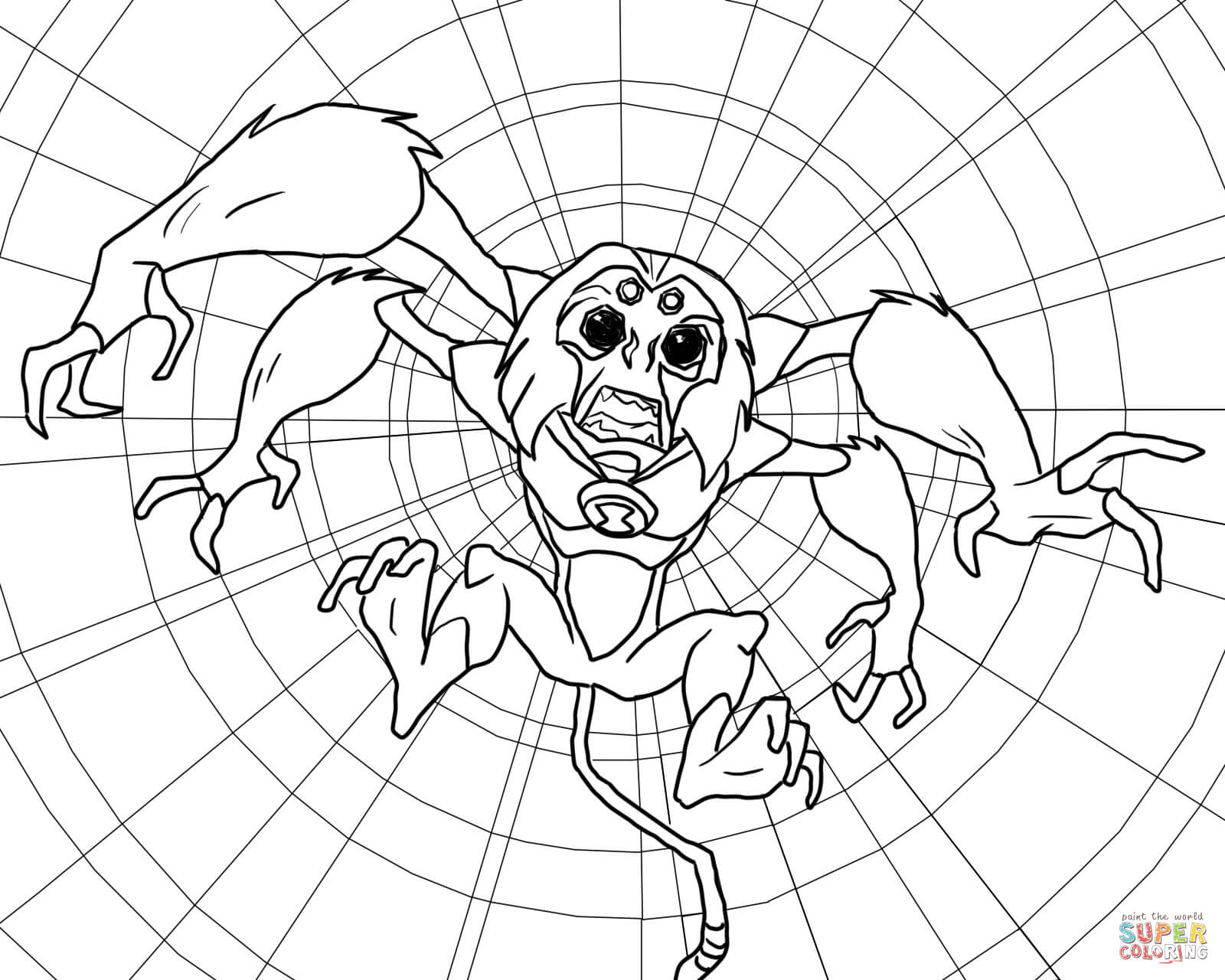 Ben 10 Alien Force Spidermonkey From Ben 10 Coloring Page