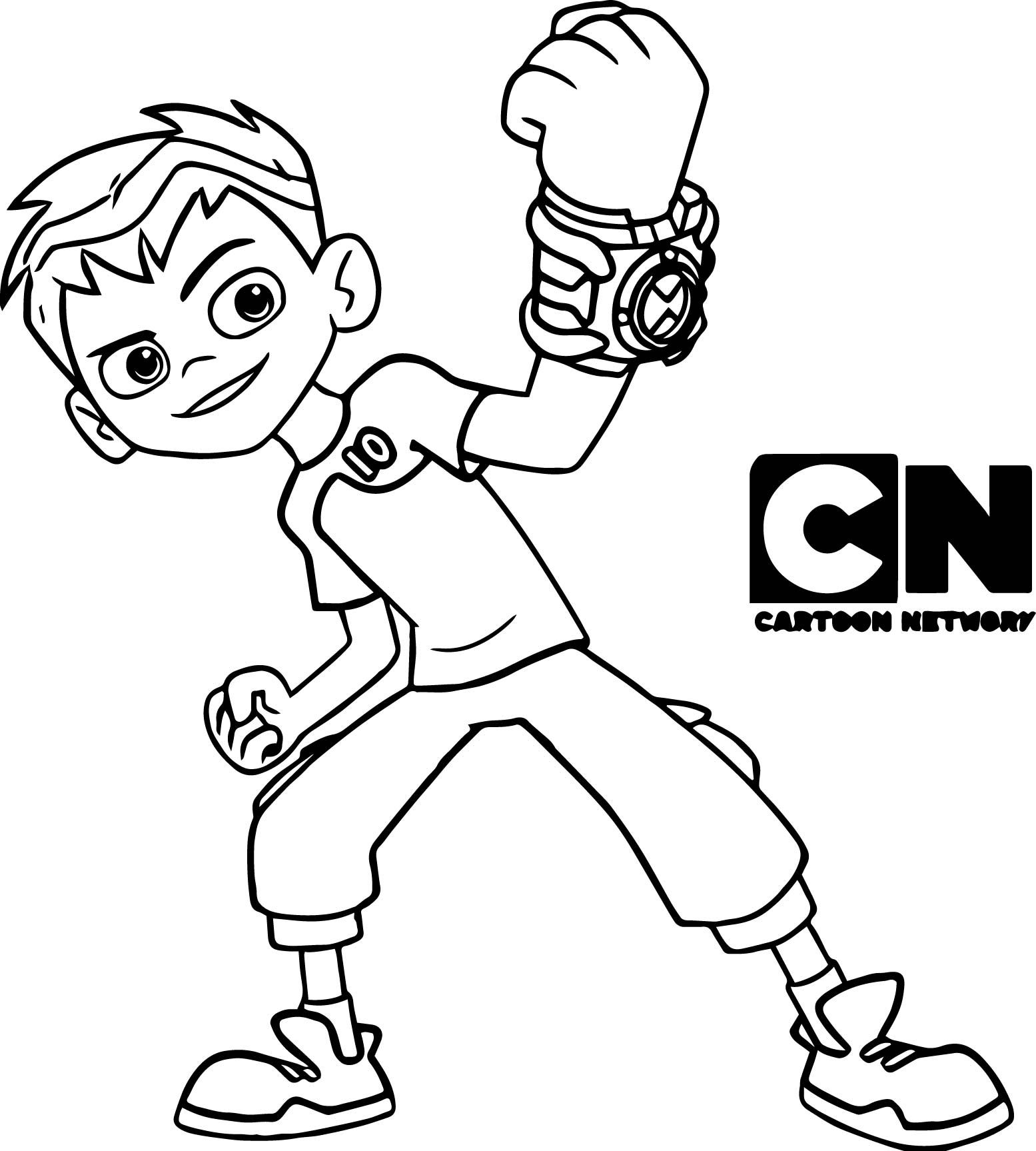 Ben 10 cartoon Coloring Page
