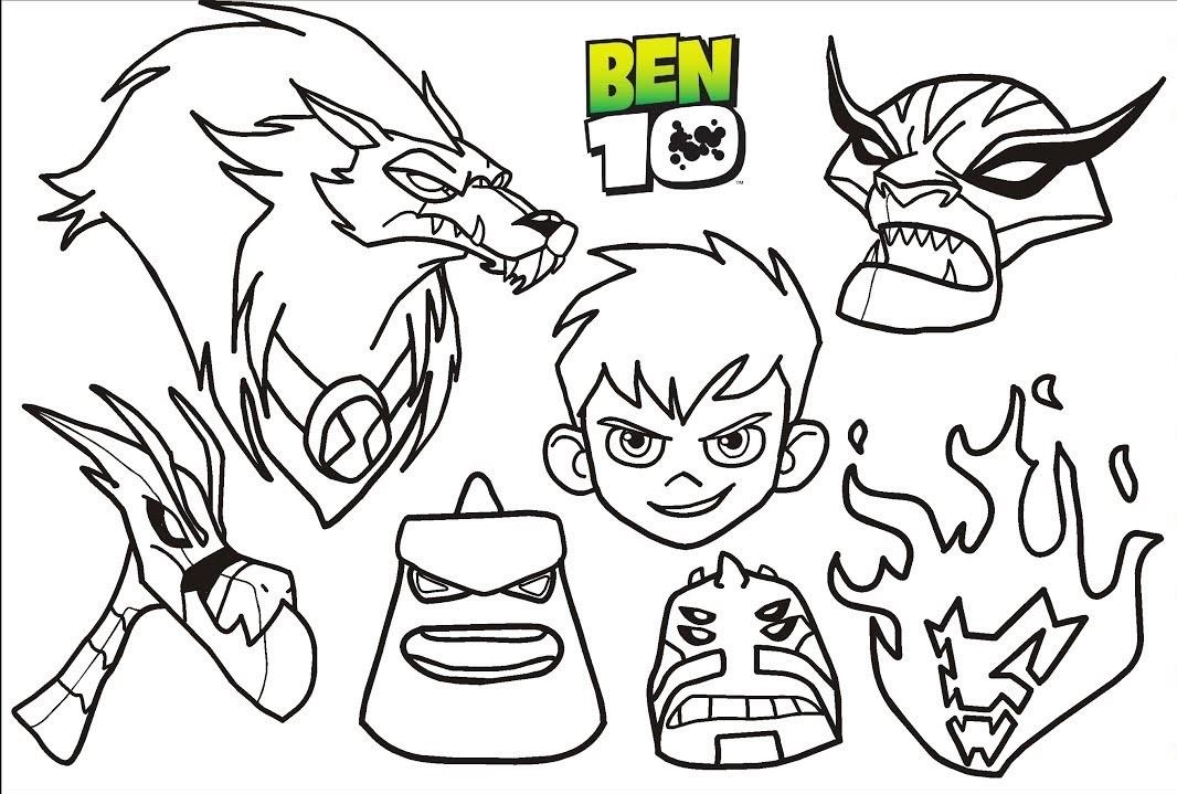 Ben 10 Ultimate Alien Coloring Page
