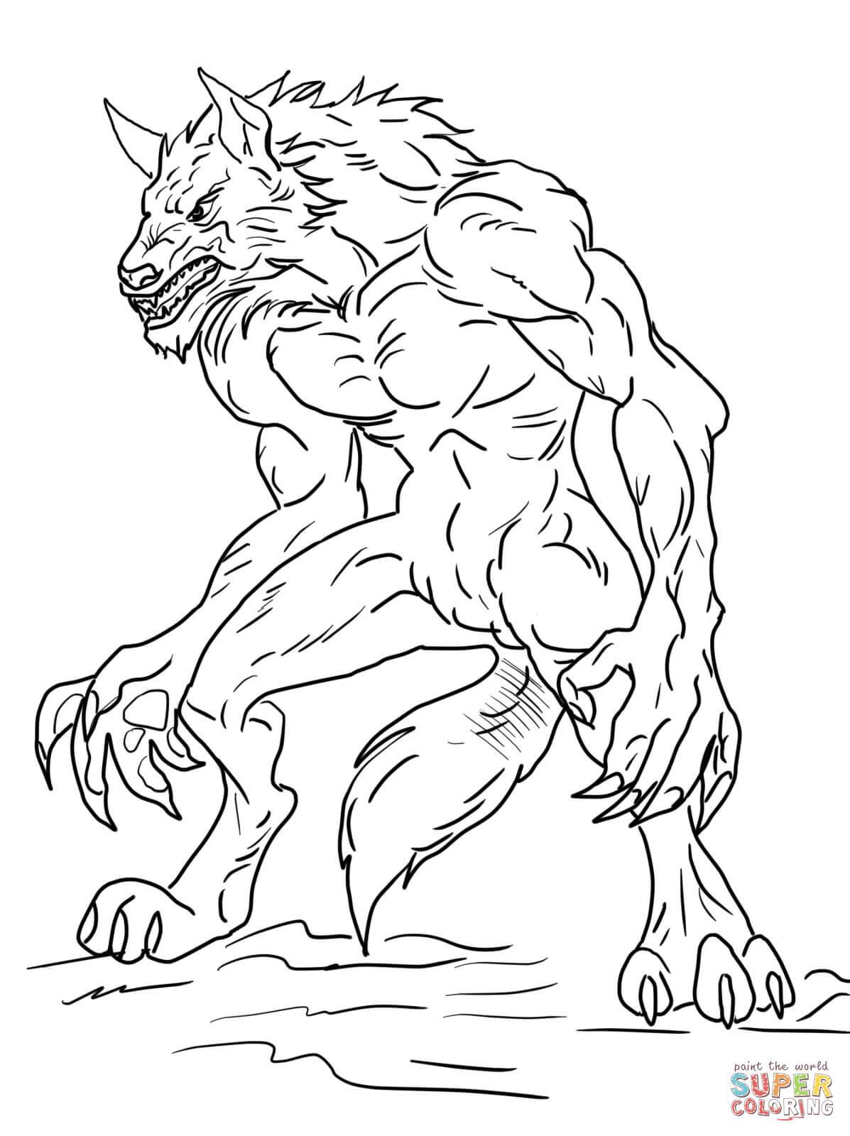 Ben 10 Werewolf From Ben 10 Coloring Page