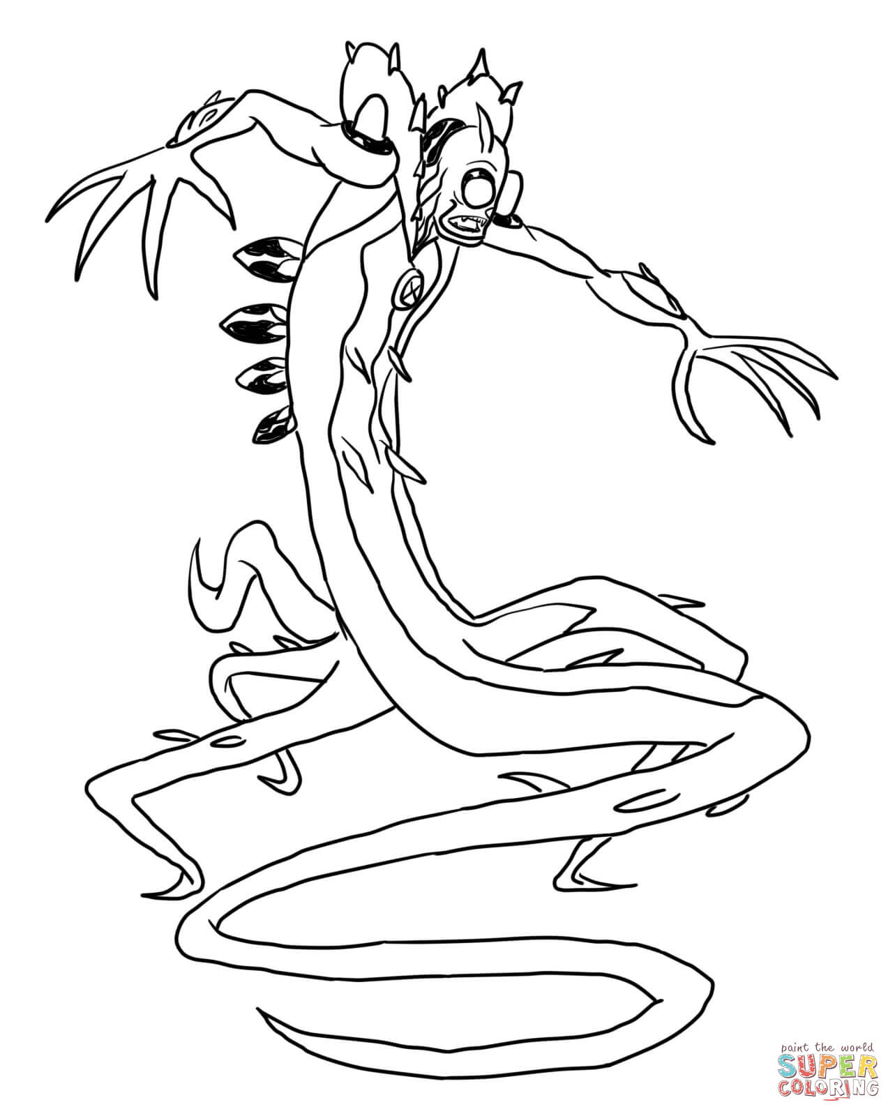Ben 10 Wildvine From Ben 10 Coloring Page