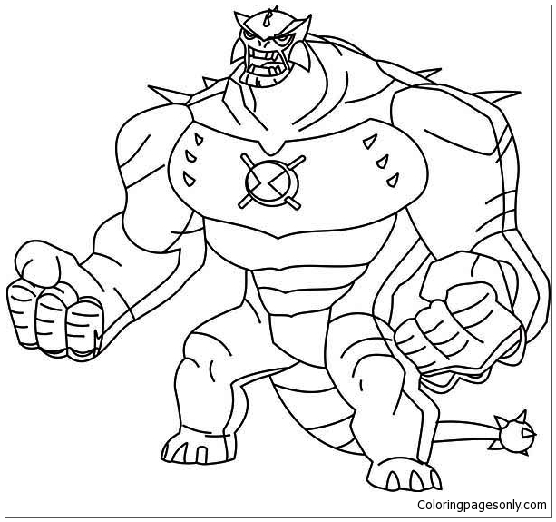 Ben Ten Omniverse Coloring Page Free Coloring Pages Online
