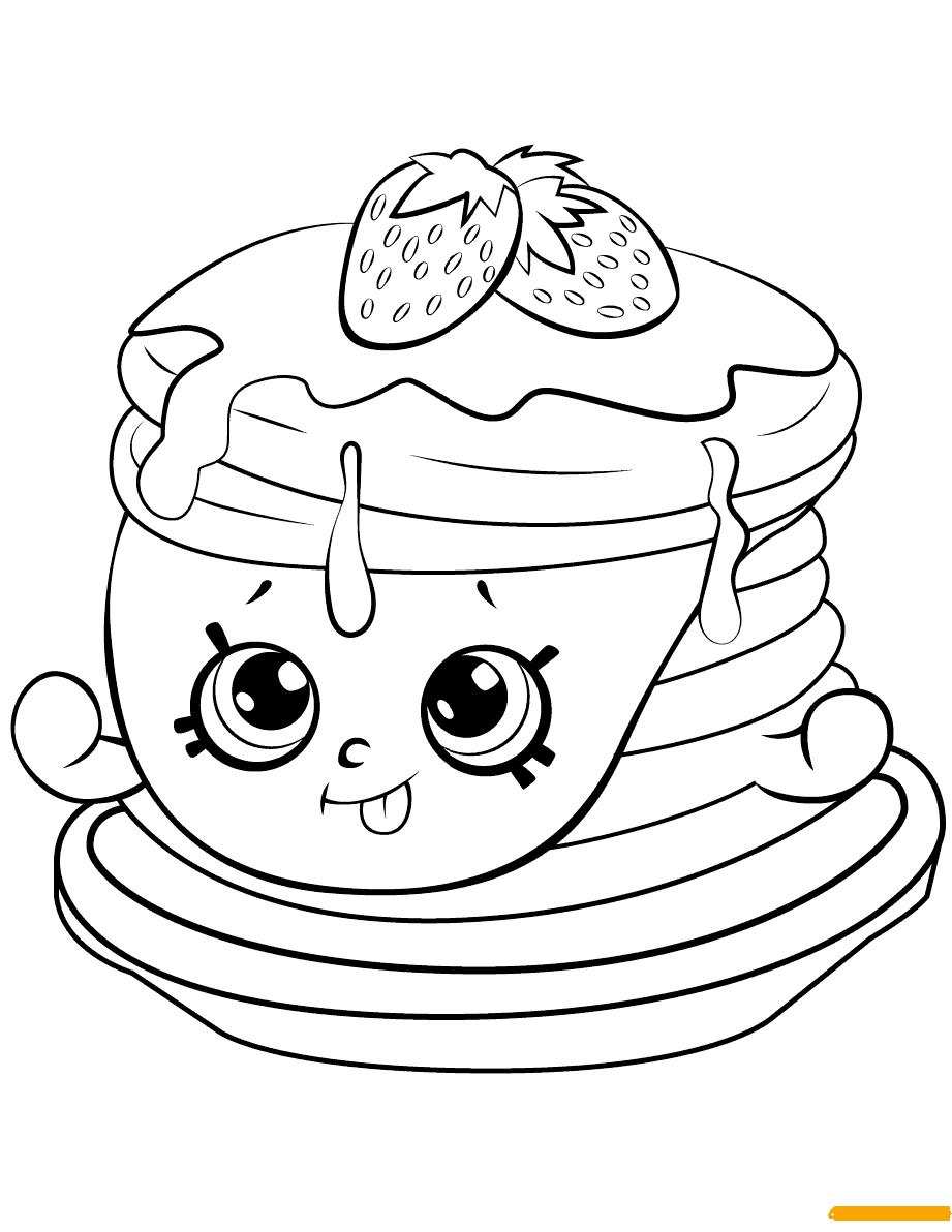 Berry Sweet Pancakes Shopkins Season Coloring