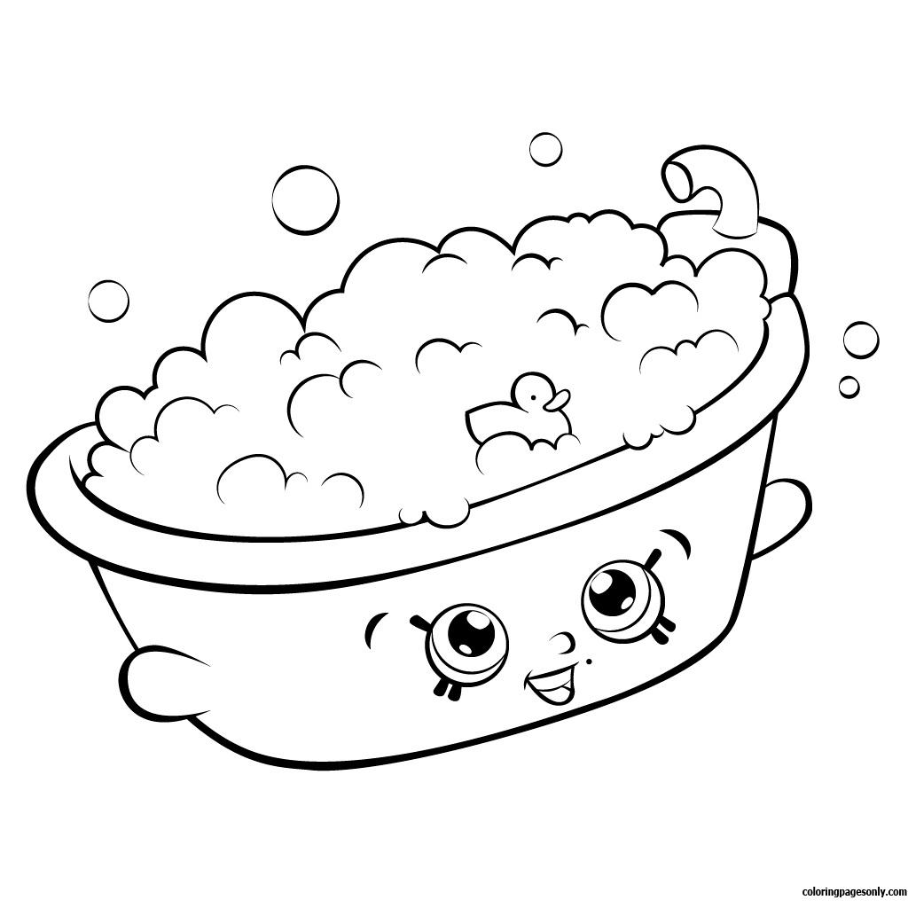 Bertha Bath Shopkin Season 5 Coloring Page