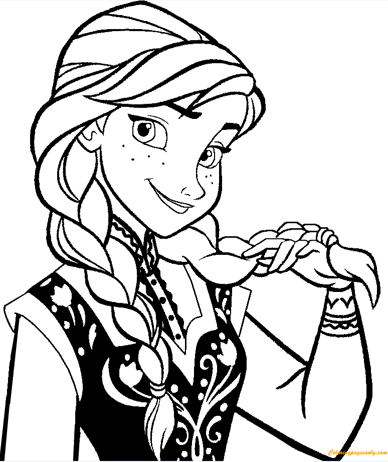 best anna frozen coloring page