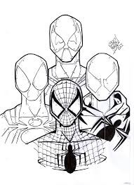 Best Deadpool And Spiderman Coloring Page