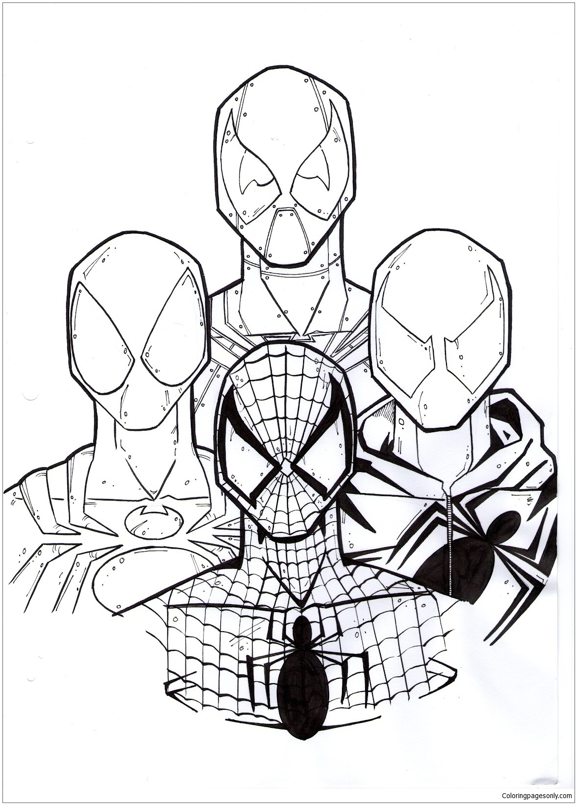 Best Deadpool And Spiderman Coloring Pages Deadpool 2 Coloring Pages Free Printable Coloring Pages Online