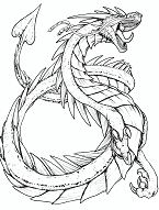 Best Dragons Coloring Page