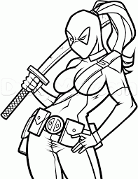 Best Girls Deadpool Coloring Page