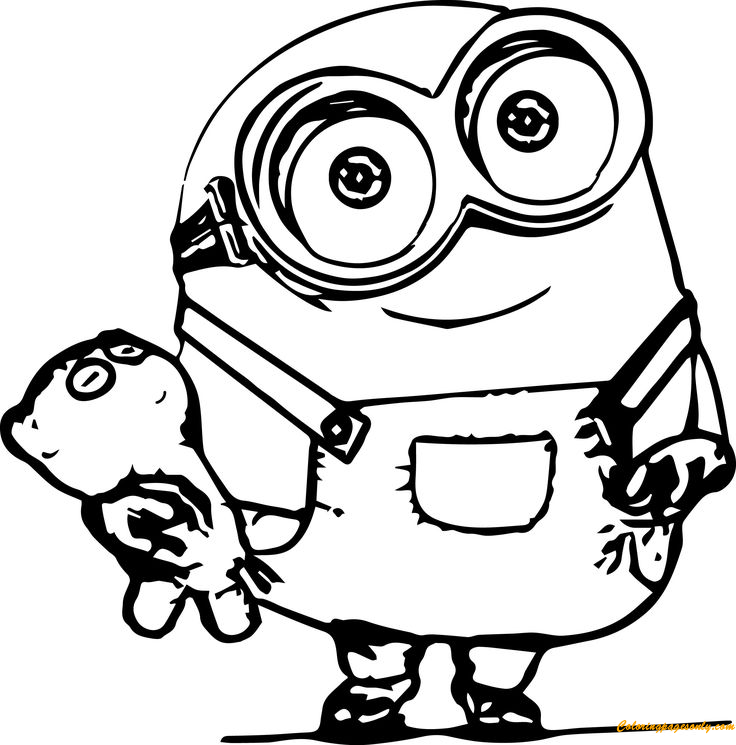 Best Minion Coloring Page