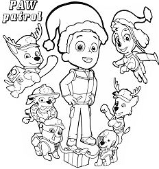 Best Paw Patrol Everest Coloring Page