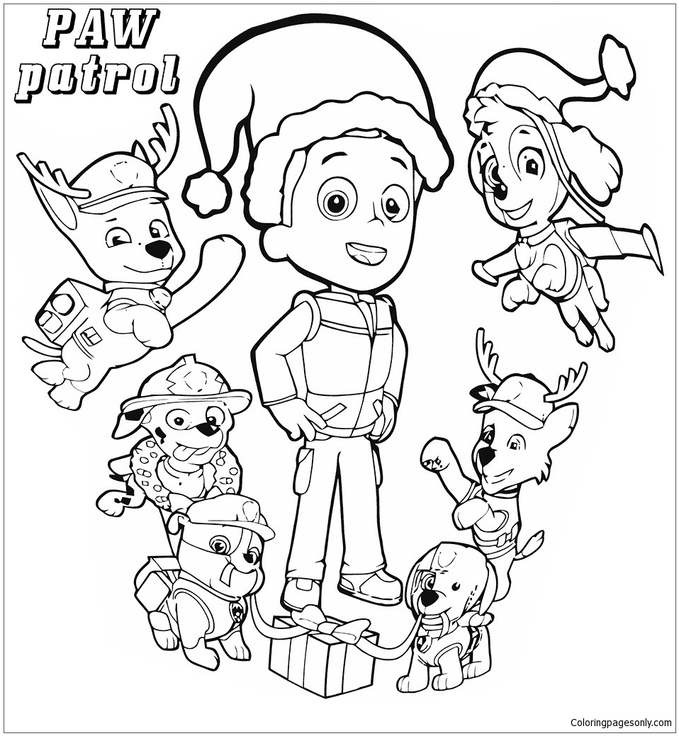 Best Paw Patrol Everest Coloring Page - Free Coloring ...