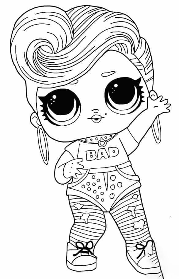 Lol Suprise Doll Bhaddie Coloring Page