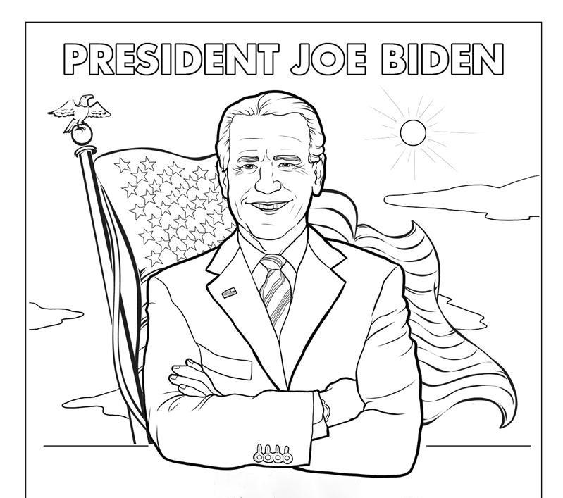 Biden Harris 2020 Coloring Page