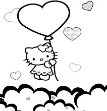 Big Balloon Love Heart Hello Kitty