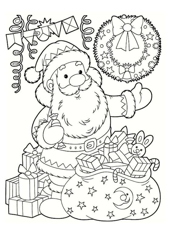 Big Christmas Gift Coloring Page