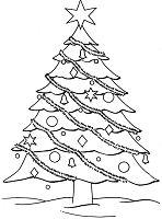 Big Christmas Tree Coloring Page