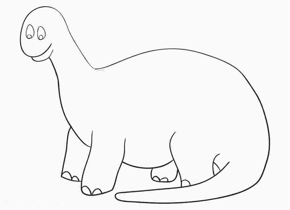 Big Cute Dinosaur of Apatosaurus Coloring Page