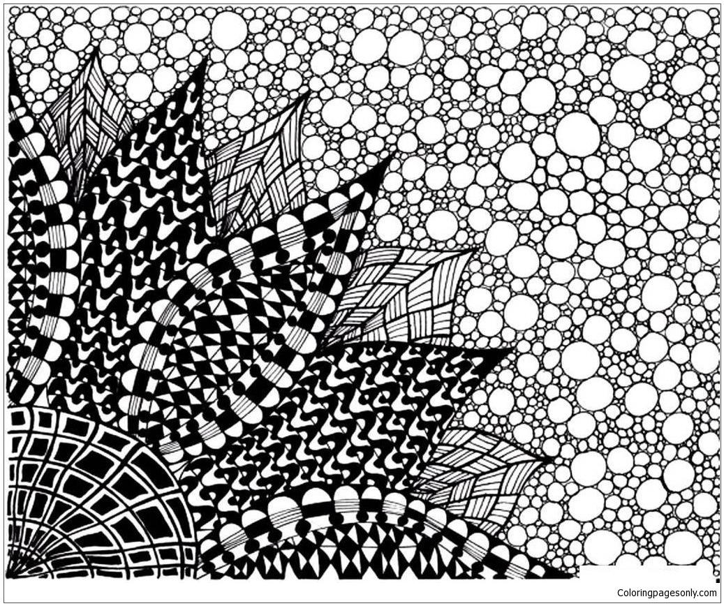 Big Flower Coloring Page