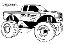 Famous Monster Truck Bigfoot Coloring Page - Free Coloring ...