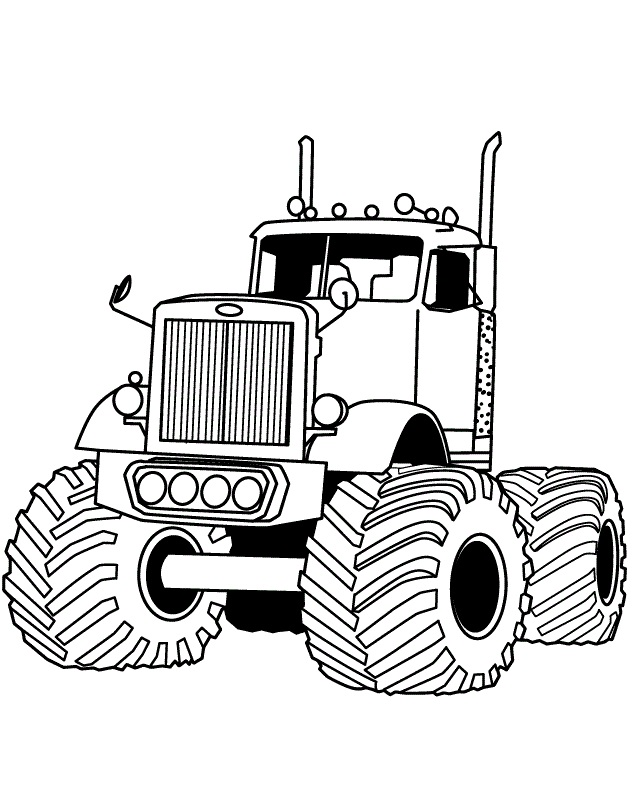 Big Rig Auto Monster Truck Coloring Page