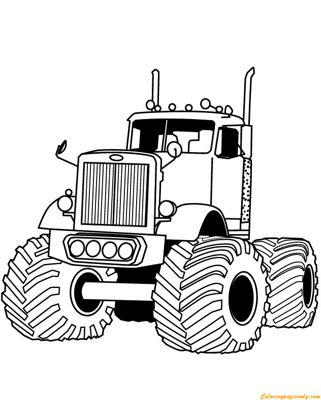 Big Rig Auto Monster Truck Coloring Page - Free Coloring ...