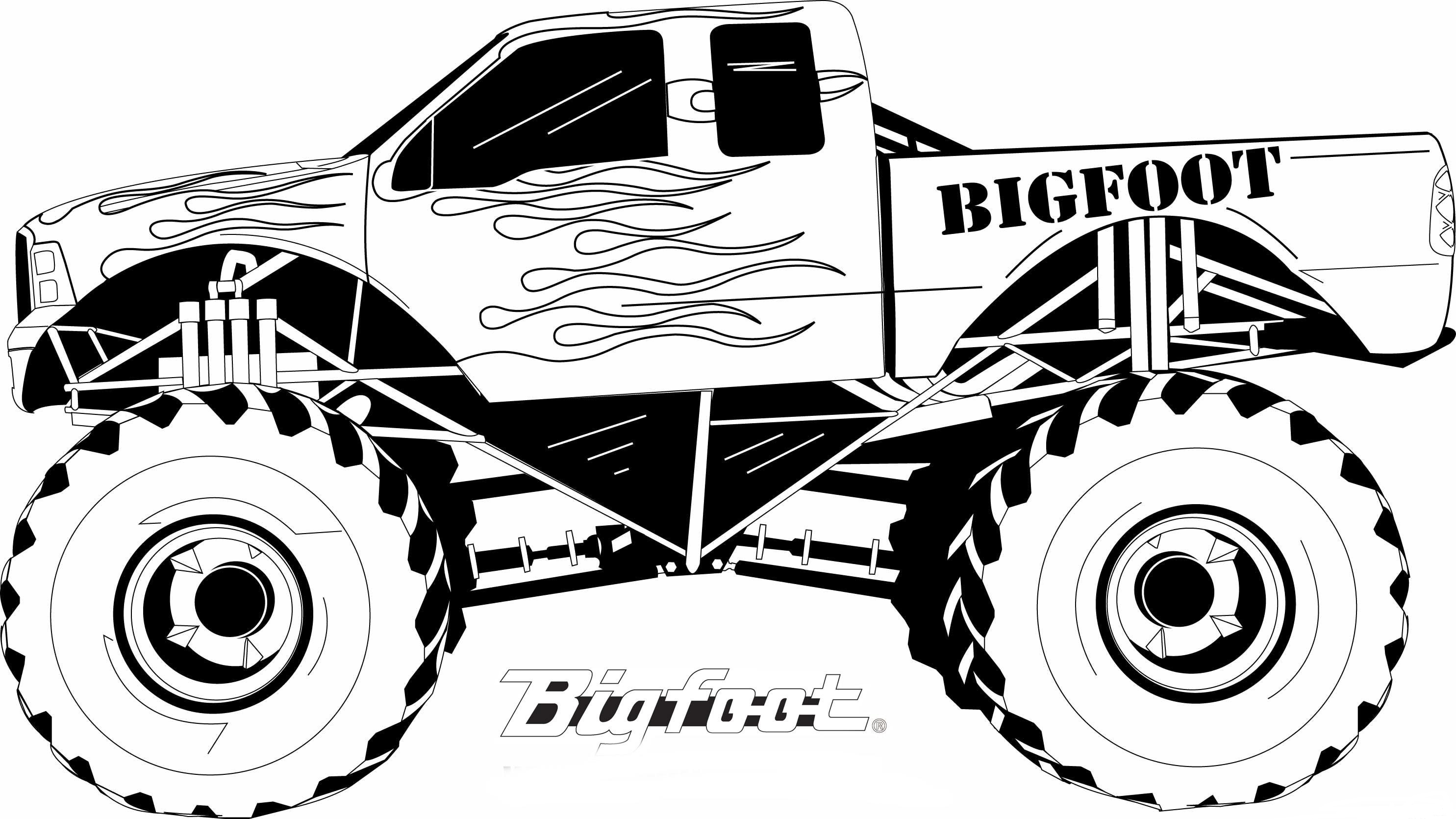 Monster Truck Speed Coloring Page Free Coloring Pages Online