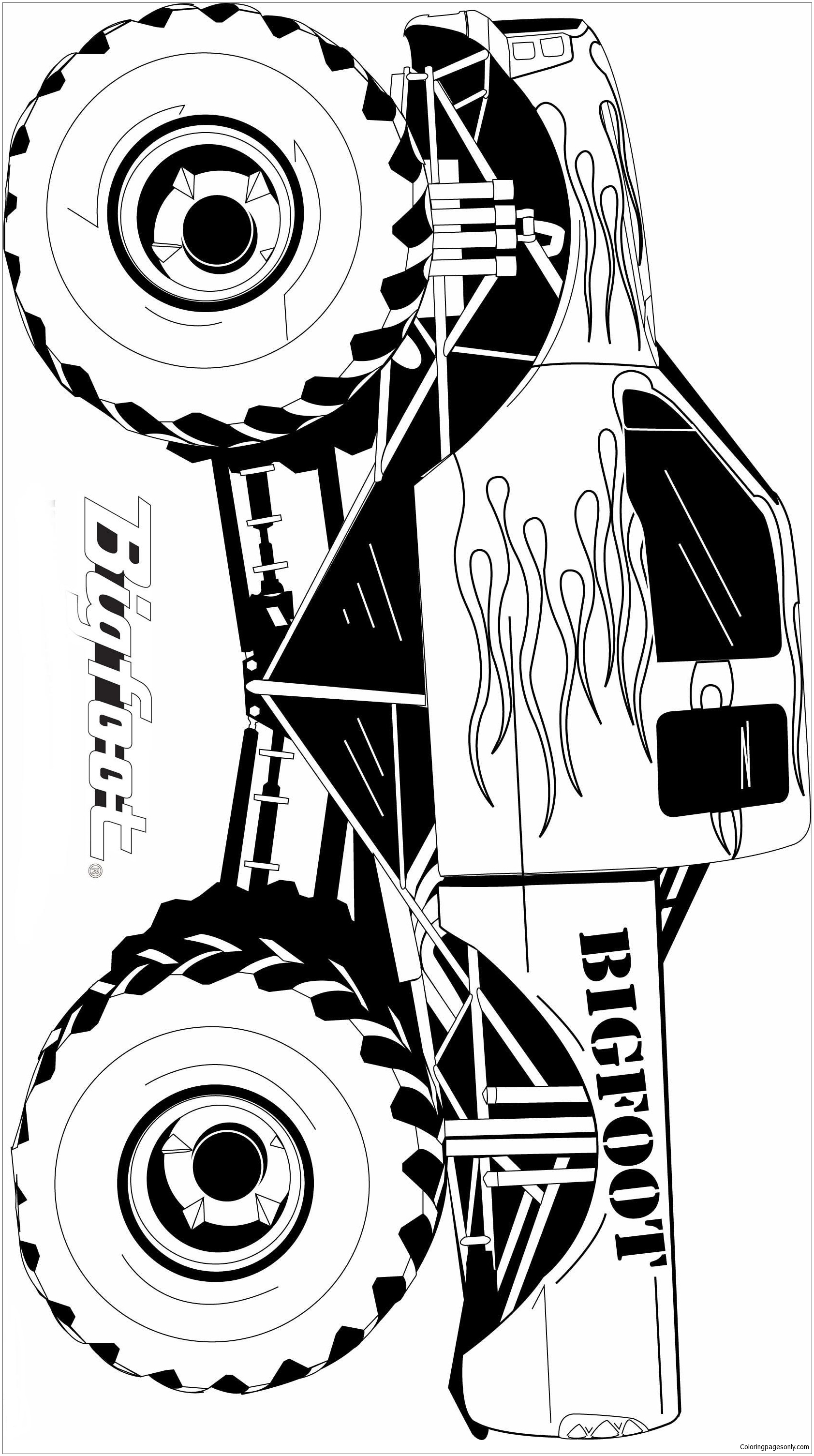 Bigfoot From Monster Truck Coloring Page