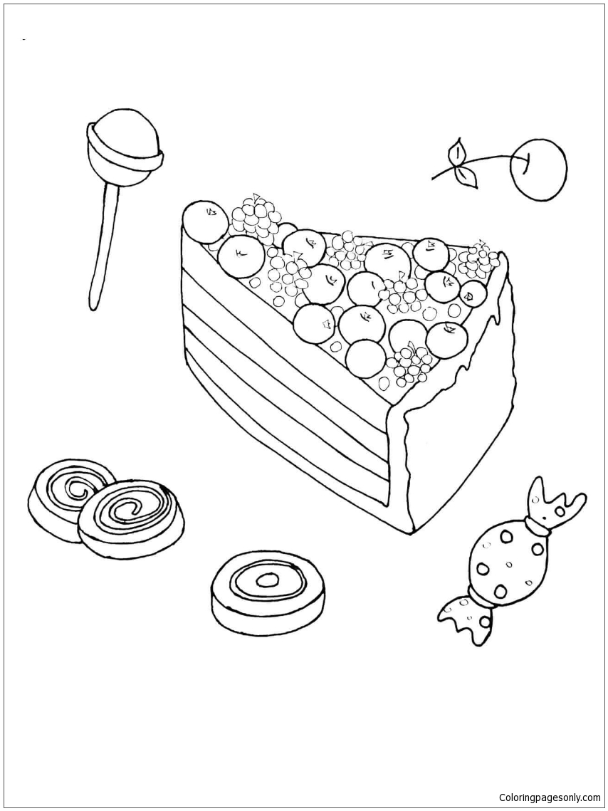 Bilberry Pie Coloring Page