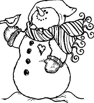 Bird And Snow Man