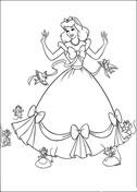 Birds And Mice Help Cinderella  from Cinderella Coloring Page