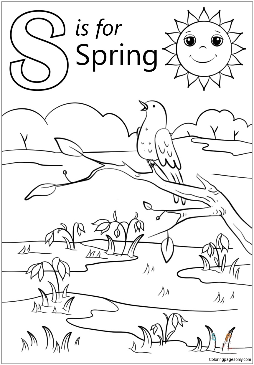 Birds Chirping And Singing Coloring Page