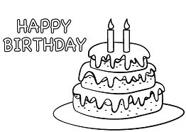 Birthday Cake 2 Coloring Page