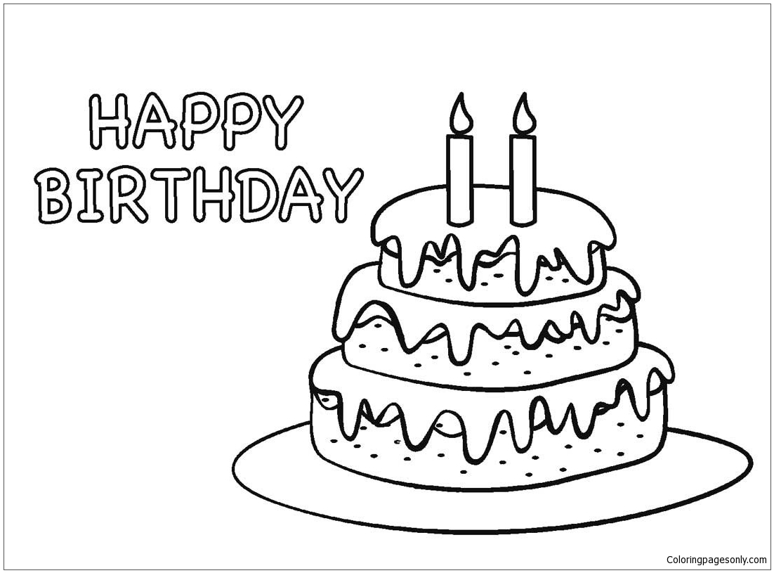 Tremendous Birthday Cake 2 Coloring Page Free Coloring Pages Online Personalised Birthday Cards Beptaeletsinfo