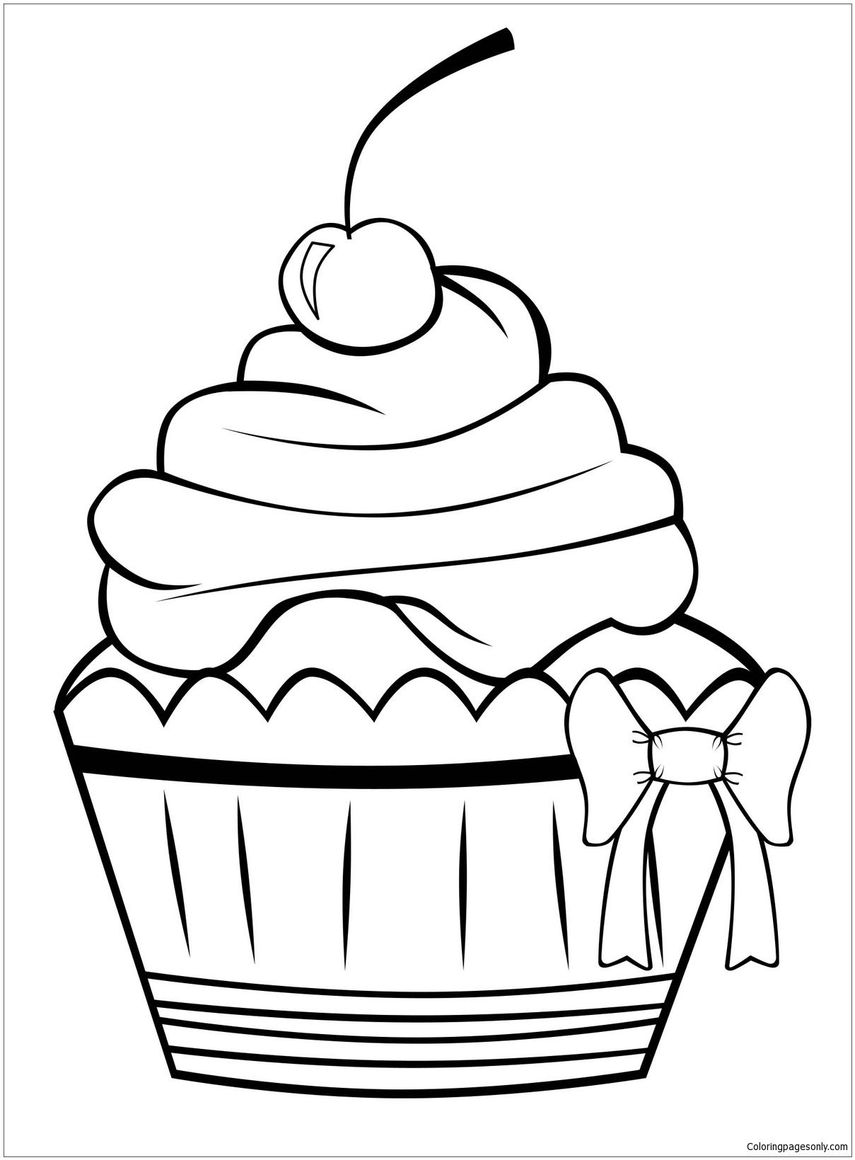 Birthday Cake No Candles Coloring Page Free Coloring Pages