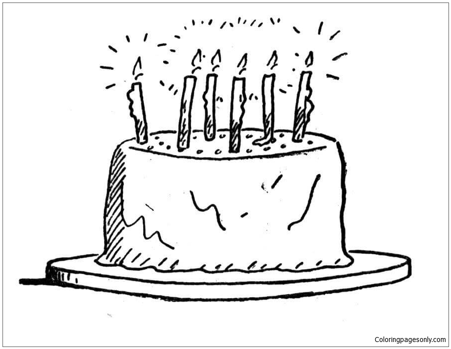 Cool Birthday Cake Coloring Page Free Coloring Pages Online Personalised Birthday Cards Beptaeletsinfo