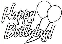 Birthday Cards Coloring Page